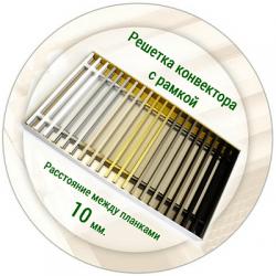 Решетка конвектора с рамкой (расстояние между планками 10 мм)