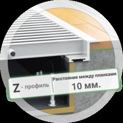 Решетка конвектора с Z-рамкой (расстояние между планками 10 мм.)