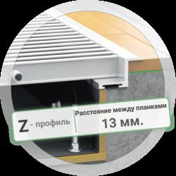 Решетка конвектора с Z-рамкой (расстояние между планками 13 мм.)