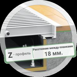 Решетка конвектора с Z-рамкой (расстояние между планками 18 мм.)
