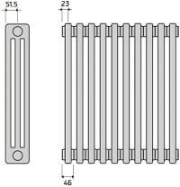Трубчатые радиаторы 10 секций