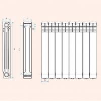 Алюминивый радиатор отопления