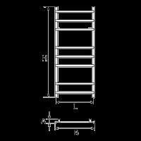 Схема полотенцесушителя wellmer Plain 1000-8
