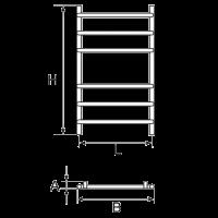 Полотенцесушитель Wellmer PLAIN 700-6