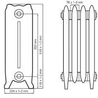 Радиаторы отопления 350-180 чугунные