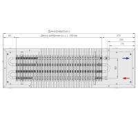Конвектор высота 90 мм ширина 300 мм длина 2500 мм