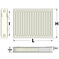Стальной радиатор нижнее подключение