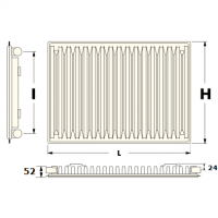 панельные радиаторы нижнее подключение