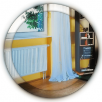 панельный радиатор с нижним подключением