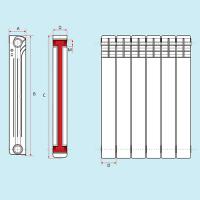 Радиатор биметаллический 500