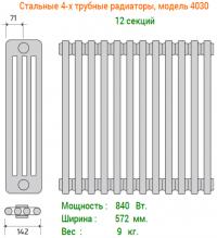 Трубчатые радиаторы Радстал 3040