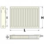 стальной радиатор с нижним подключением Millenium