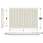 Стальной панельный радиатор Apollo Xtra Evolution 1000 мм. (нижнее подключение)
