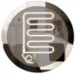 Полотенцесушитель электрический Wellmer ANGIS 4B белый