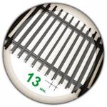 Решетка на конвектор (порошковая покраска) Ширина 90-600 мм.