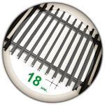 Решетка конвектора алюминиевая шаг 18 мм.(порошковая покраска)