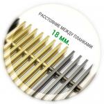 Решетка внутрипольного конвектора (алюминий, шаг между планками 18 мм.)