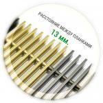 Решетка для конвектора анодированный алюминий (шаг между планками 13 мм.) Ширина 90-260 мм.