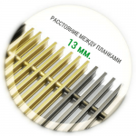 Решетка для конвектора анодированный алюминий (шаг между планками 13 мм.) Ширина 270-600 мм.