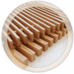 Решетка деревянная (дуб), шаг между планками 13 мм.