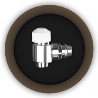 Угловой вентиль с термостатической головкой Prestig termostatika
